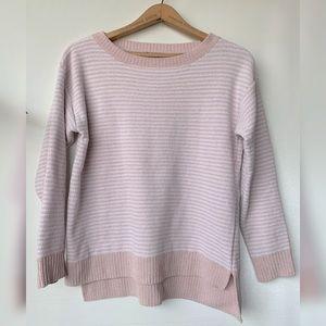 XS, Jones New York, rosey pink and white sweater